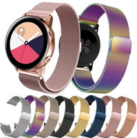 Wholesale milanese loop for gear resale online - Band Strap mm for Samsung Galaxy Watch mm mm Gear S3 Frontier Classic mm Stainless Steel Loop Milanese Belt Accessories