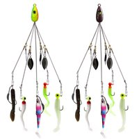 Wholesale sets saltwater lures resale online - Fishing Alabama Rig Lures cm g Group Attack Accessories Jig Head Hook Soft Bait Fish Pieces Set
