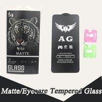 iphone mat cam toptan satış-Mat temperli cam iphone 9 H için Anti-parmak izi mat ekran koruyucu 5D Eyecare ekran koruyucu için Iphone 6 7 8 X XSmax XR
