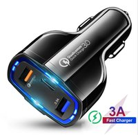 Wholesale car tablets for sale – best 35W A Ports Car Charger Type C And USB Charger QC With Qualcomm Quick Charge fast charging For Mobile Phone GPS tablet pc phones