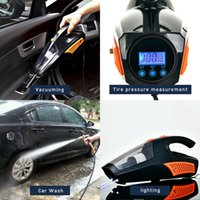 Wholesale sweeper vacuum cleaner for sale - Group buy Car Home Use Vacuum Cleaner Dust Catcher Portable Vacuum Sweeper Multi functional Illumination Tire Pressure Measurement
