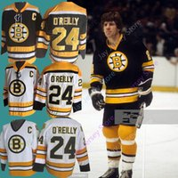 camiseta de terry o'reilly al por mayor-Terry O'Reilly Jersey O Reilly OReilly Hockey sobre hielo Boston Bruins Jerseys Negro Blanco Local CCTV Vintage Barato