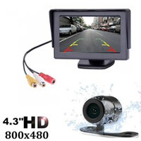 Wholesale car reverse parking camera wireless online - 2019 Inch TFT LCD Car Monitor Display Wireless Cameras Reverse Camera Parking System for Car Rearview Monitors