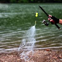 steckverbinder tragen großhandel-Neue Kupfer Frühling Shoal Fischernetz mit Nacht Licht Perlen Kugellager Solide Ring Angeln Stecker Süßwasserfischen Werkzeug