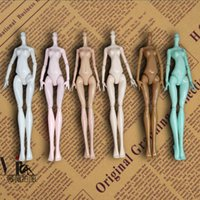 6pcs lot DIY Imitation Naked Body Without Head For Monster High Dolls Fairytales 11 Joints Bodies Demon Monster Doll Accessories