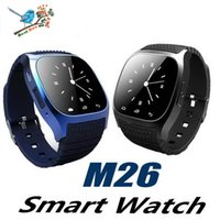 Wholesale wireless remote control for alarm resale online - M26 smartwatch Wireless Bluetooth Smart Watch Phone Bracelet Camera Remote Control Anti lost alarm Barometer V8 A1 U8 watch for IOS Android