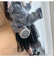 mini runde geldbörsen taschen großhandel-Baby Kinder Handtaschen Mode Korean Mini Prinzessin Geldbörsen Schöne Designer Kinder Runde Taschen Mädchen Geneigte Umhängetaschen Weihnachtsgeschenke Für Kinder