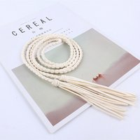 Wholesale braided rope belt women for sale - Group buy fashion women waist tassel Braided Twist weaving belt knitted decorated rope for dresses shirt