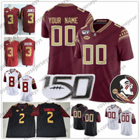 Wholesale florida state jerseys for sale - Group buy Custom Florida State Seminoles FSU Football White Red Black Any Name Number Cam Akers Alex Hornibrook Blackman NCAA TH Jersey