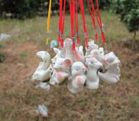 ocarina chinês venda por atacado-Água do zodíaco Chinês Ocarina Crianças Presente Design Criativo Apito De Cerâmica Mini Qntique Estilo Assobiando Muitos Estilos