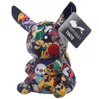 muñeca goomba al por mayor-Impresión pikachu pichu Exquisito juguete de peluche lindo Pequeño animalito muñeca suave Juguetes para niños regalos regalo de cumpleaños presente