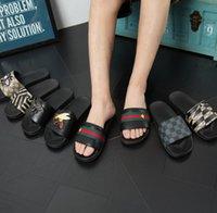 ingrosso promozione sulla spiaggia-Promozione Pantofole per il tempo libero Designer Sandali Slide in gomma Tiger Slide Beach Designer Pantofole Sandali uomo LuxuFlops Slipperry Shoes Casual