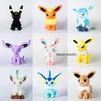 Wholesale new umbreon plush for sale - Group buy 30CM Eevee Plush Toys Models Center Plush toys Pikachu dolls Jolteon Umbreon Flareon Eevee Espeon Vaporeon Kids Children Toy gifts