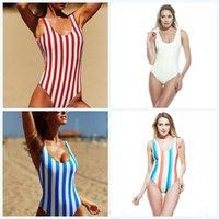 ingrosso swimwear misto-Swimwear di barra del bikini verticale di stampa di un pezzo Costumi da bagno sexy backless sexy Maglia di estate Bather Beach Bather mix 19ddf1