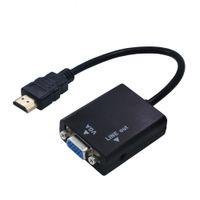 ingrosso connettore hdmi per tablet-Da maschio a femmina per HDMI a VGA con cavo adattatore convertitore audio per PC Tablet PC portatile 1080P HDTV per connettore HDMI VGA