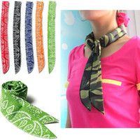 Wholesale ship free body towels resale online - Summer Ice Cooling Wrap Tie Colors Non toxic Neck Arm Cooler Scarf Body Headband Towel Bandana