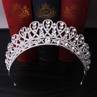 Wholesale woman tiaras for hair for sale - Group buy hair accessories for women tiara crowns hair Headwear Headband Alloy Rhinestone Hairs Accessories Wedding Photo Studio Accessories
