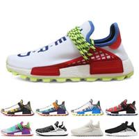 7b4714f37a649 NERD raça humana Hu trilha x pharrell williams homens tênis Solar Pack Afro  Holi em Branco Canvas mens formadores mulheres sports sneaker