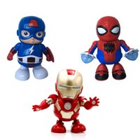 Wholesale girl electric toys resale online - Dancing Robots Mini Dancing Iron Man Marvel Fingers Avengers Toys Dancing Robot Light Electric Music Toy with Music Boys Girls Gift