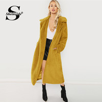 9dfaab3cf0 Sheinside Ginger Winter Jacket Women Open Front Faux Fur Teddy Coat With  Lining Elegant Outerwear Womens Long Coats And Jackets. 34% Off