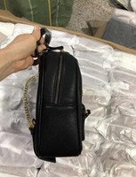 Wholesale casual girls handbag resale online - 2020 New women chain fashion casual Backpack style bag lady double shoulder handbag black with dust bag