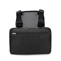 bolso de cintura táctica para los hombres al por mayor-5 colores Cofre Rig Bag Hip Hop Streetwear Tactical Cofre negro Molle Funcional bolso de la cintura de los hombres a prueba de agua cruzada bolsas de hombro