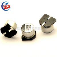 tipos de condensadores al por mayor-50PCS 100uF 16V 6.3x5.4mm 16V100uF Tipo de chip Condensador electrolítico de audio SMD