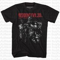 ingrosso video di vita-Resident Horror male maniche corte del video macchina del gioco salverà la vita Uomo Nero Film Top Moda girocollo T-shirt Taglia S M L XL 2XL 3XL