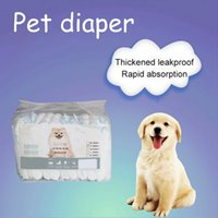 Wholesale extra large dog diapers for sale - Group buy dog diaper disposable Diaper Shorts Thickened Leakproof Rapid Absorption Super Soft Puppy Care Supplies Diapers Female Dog