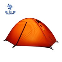 ingrosso tende di alta qualità-Hillman super leggero palo in alluminio doppio strato tenda da campeggio in montagna per esterni tenda singola anti-tempesta di alta qualità