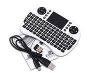fs remoto al por mayor-10X 2019 Teclado inalámbrico rii i8 teclados Fly Air Mouse Control remoto multimedia Touchpad de mano para TV BOX Android Mini PC B-FS