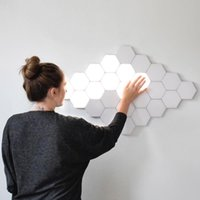 telhas led venda por atacado-Fss Lamp Quantum LED Modular Toque Lâmpada Sensitive Touch Wall Light Hexagonal Magnetic Tiles Night Lights arandela de cabeceira