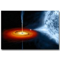 Wholesale galaxy posters for sale - Group buy NICOLESHENTING BLACK HOLE Milky Way Galaxy Stars Nebula Art Silk Fabric Poster Huge Print Space Pictures for Home Wall Decor