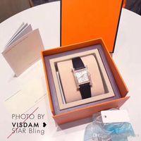 relojes populares para las mujeres al por mayor-Dropshiping Nueva Moda Mujeres Top vende Oro Rosa Reloj de pulsera de cuero genuino Reloj de dama de lujo Moda popular ventas al por mayor de alta calidad