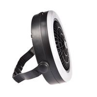 вентилятор для кемпинга оптовых-Outdoor Camping Portable USB Rechargeable LED Multifunction Fan Light Hanging Tent Lamp