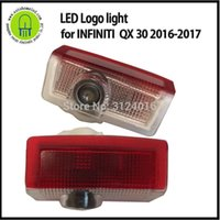 Wholesale courtesy logo lights resale online - 2pc X dahosun Car LED Courtesy Step light for INFINITI QX Laser logo light for infinity