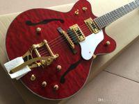 ingrosso chitarre country-G6122-1962 vice nuova chitarra elettrica di alta qualità Atkins country gentleman, corpo cavo con stampa F, rosso