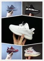 zapatillas de deporte unisex yeezy boost al por mayor-Adidas yeezy supreme 350 Zapatos para niños Wave Runner Boost Kanye West 350 V2 Zapatos para correr 2018 Zapatos atléticos para niños Beluga 2.0 Zapatillas deportivas al aire libre