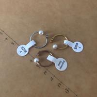 titan bärenschmuck großhandel-New Edelstahl trägt klassischen Stil beliebtesten versilbert gute Qualität vier Größen Marke Schmuck offene Manschette Perlen Ring