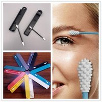 Wholesale cleaning for ears for sale - Group buy 2PCS SET Lastswab Reusable Cotton Swab Ear Cleaning Cosmetic Recycling Silicone Buds Swabs Sticks With Box For Cleaning Makeup Touch Ups