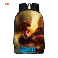 sırt çantalı soğutucu poşetleri toptan satış-Godzilla Sırt Çantası Gojira Sırt Çantası Canavar Kral Schoolbag Serin Film Baskı Sırt Çantası Spor Okul Çantası Açık Gün Sırt Çantası