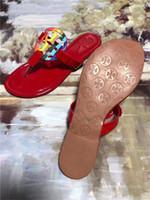 puntera de algodón cubre a las mujeres al por mayor-Con caja 2018 Diapositivas SummerIndoor Sandalias planas Zapatillas Chanclas con sandalias Spike 1986