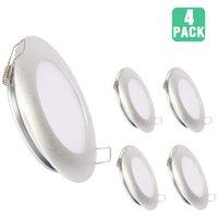 luces de techo de puck led regulable al por mayor-Techo Topoch Slimline luz LED regulable de aluminio lleno 12V 3.5