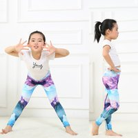 Wholesale yoga pants patterns for sale - Child Yoga pants Tights Reflected Snow mountain Mirror Pattern Quick drying Breathable Comfortable Running fitness Has elasticity Trousers22