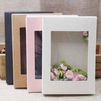 kunstfarbe papier großhandel-Hochzeit Multi Color Papier Geschenk-Paket Display Box mit klarer PVC-Fenster-Süßigkeit-Bevorzugungs Arts Krafts Paket-Kasten 100pcs anzeigen