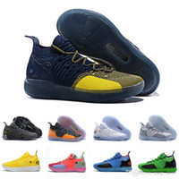 Wholesale grey kevin durant high cut shoes online - New Arrival Kd Black Gold Grey Orange Kevin Durant Basketball Shoes for high quality s Men Trainers Sports Sneakers Size