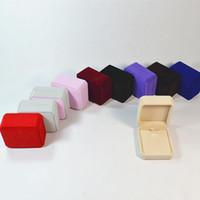 kadife mücevherat toptan satış-Mücevherat Kadife Kutu kolye Saklama Kutusu Hediye Takı Kutusu Için Ambalaj Ekran Depolama Katlanabilir Kılıf Düğün Hediyesi Parti Malzemeleri RRA55