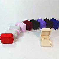 ingrosso scatole da regalo per gioielli-Scatola di immagazzinaggio della collana del contenitore di velluto dei gioielli Scatola di imballaggio del regalo per la conservazione di esposizione dei gioielli Custodia pieghevole RRA55