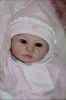 kit de silicone renascido venda por atacado-Soft reborn doll reborn bonecas de silicone reborn dolls kits de vinil diy atacado sem pintura em branco boneca parte inacabada obras de arte