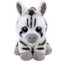 zebras plüsch großhandel-Ty Beanie Babies 15cm Stripes Das Zebra Plüschspielzeug